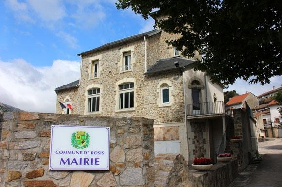 Mairie de Rosis. Panneau