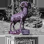 Rosis. Statue du mouflon du Caroux à Douch