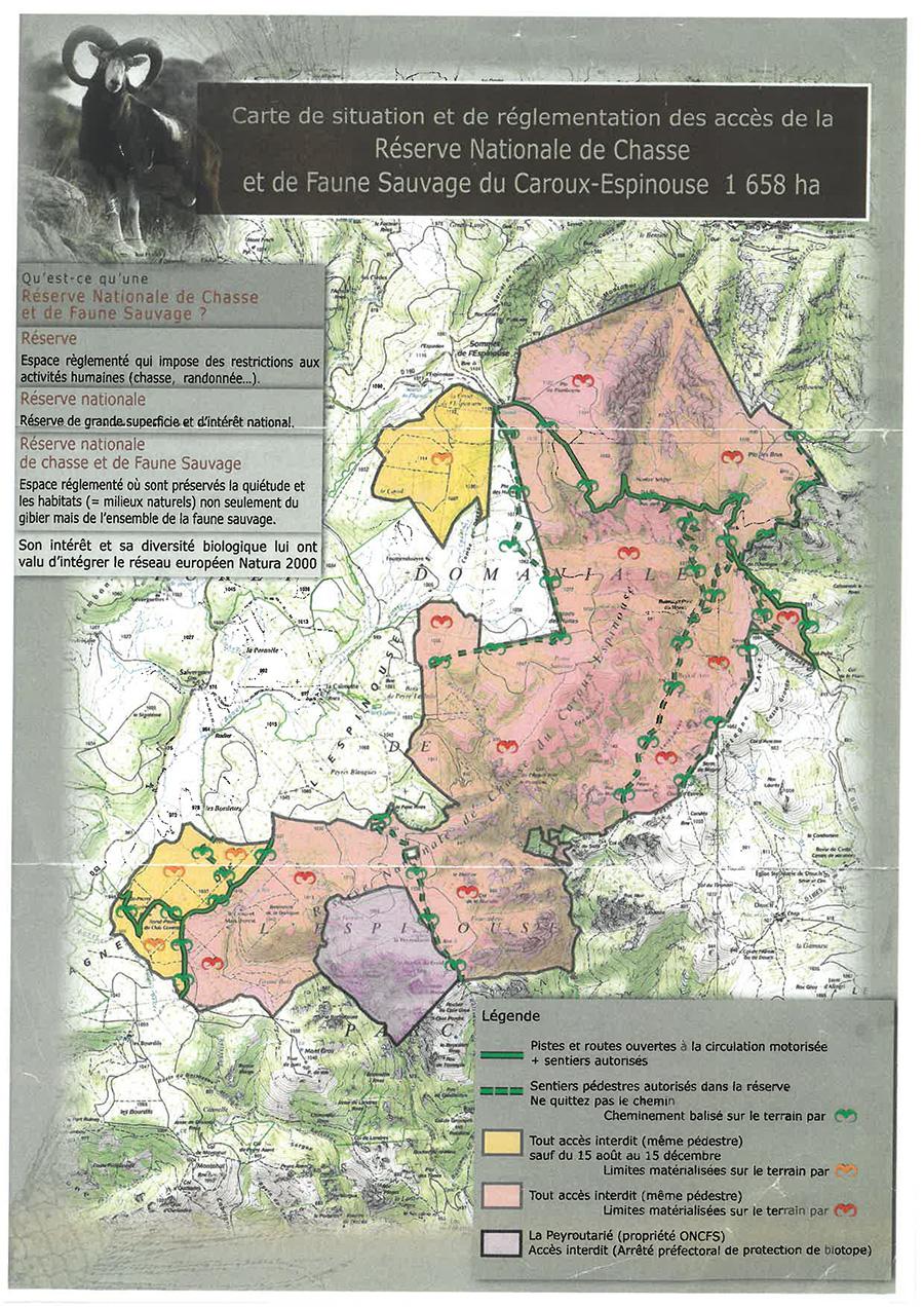 carte-de-la-reserve-de-chasse-et-faune-sauvage-du-caroux-espinouse