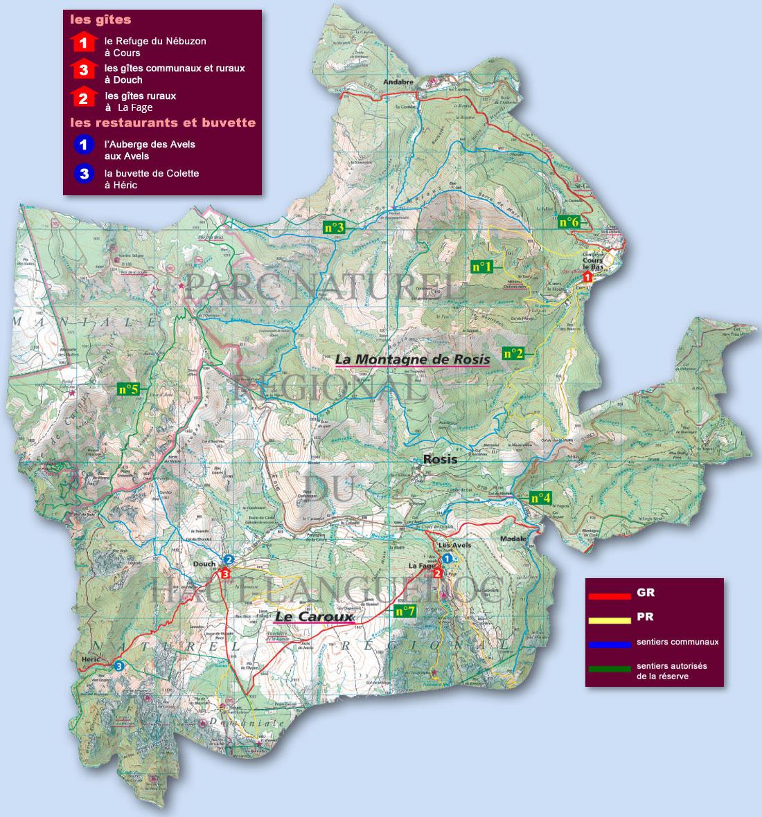 carte du territoire de Rosis